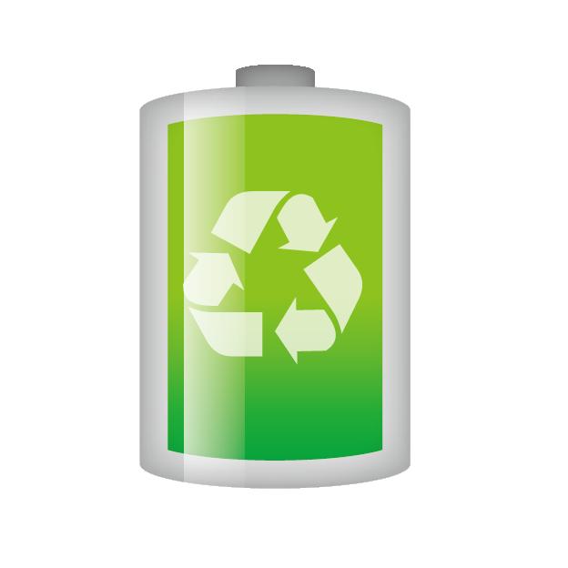 リサイクルマークのついた乾電池