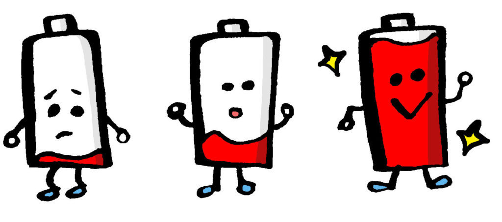 3個の乾電池