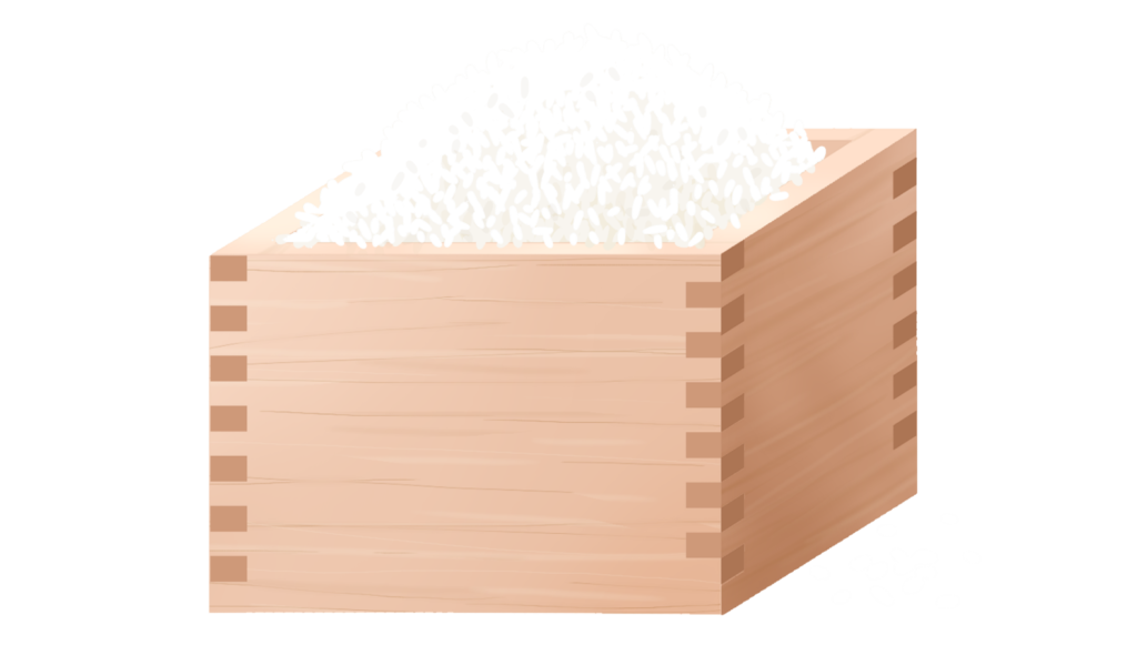 一升枡に入った米