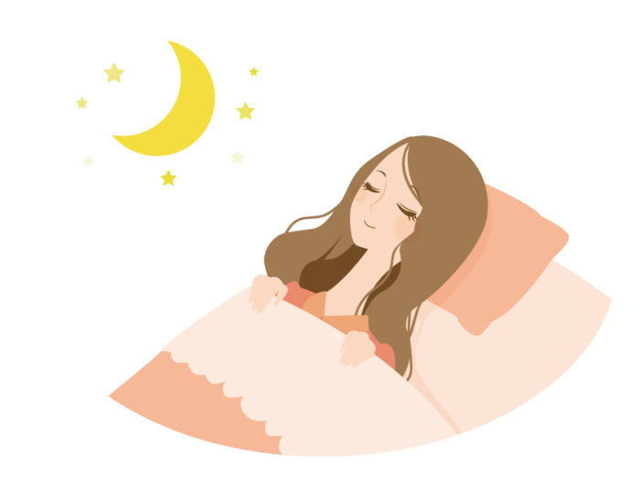 就寝中の女性